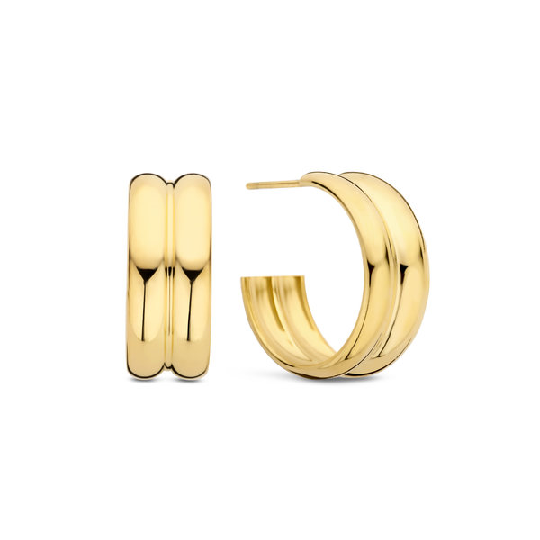 May Sparkle Summer Breeze Mia gold colored hoop earrings