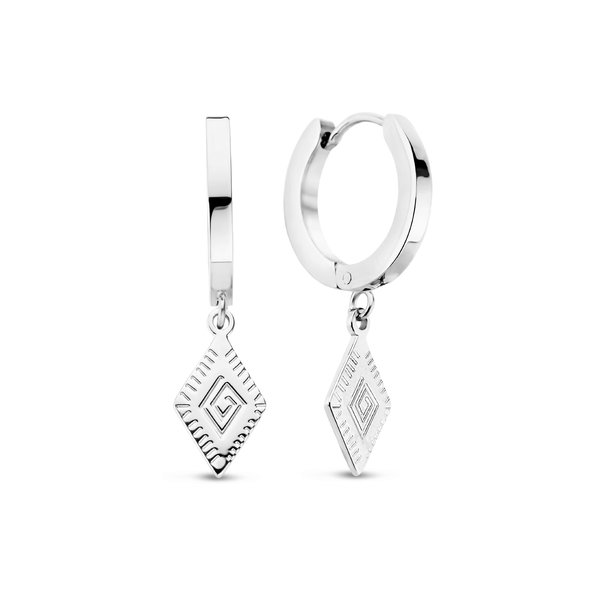 May Sparkle Beach Girl Jess silver colored hoop earrings