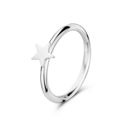 May Sparkle Forever Young Star zilverkleurige ring