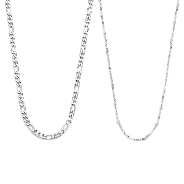 May Sparkle Sparking Island silver coloured necklaces gift set