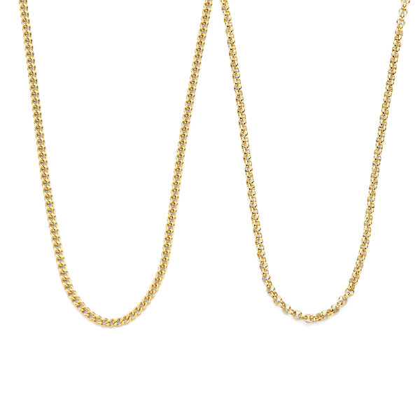 May Sparkle Sparking Island gold coloured necklaces gift set