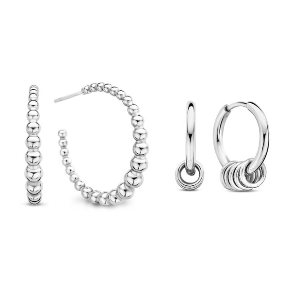 May Sparkle Sparking Island silver coloured earrings gift set