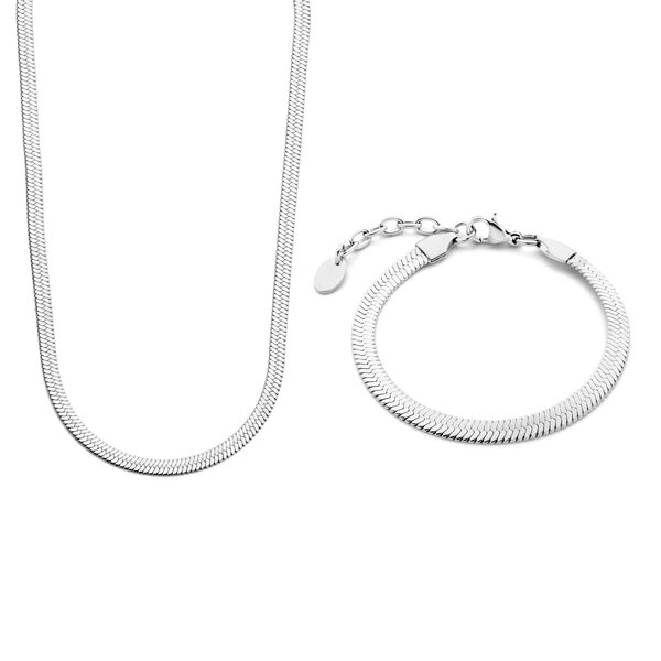 May Sparkle Sparking Island silver coloured necklace and bracelet gift set