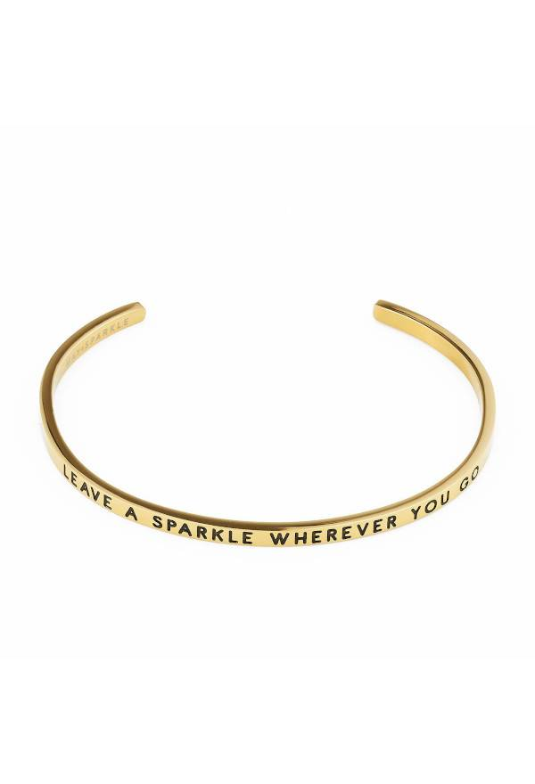 The Bangle Collection Sparkle gold colored bracelet