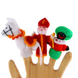 Finger puppets St. Nic, Black Peter and horse