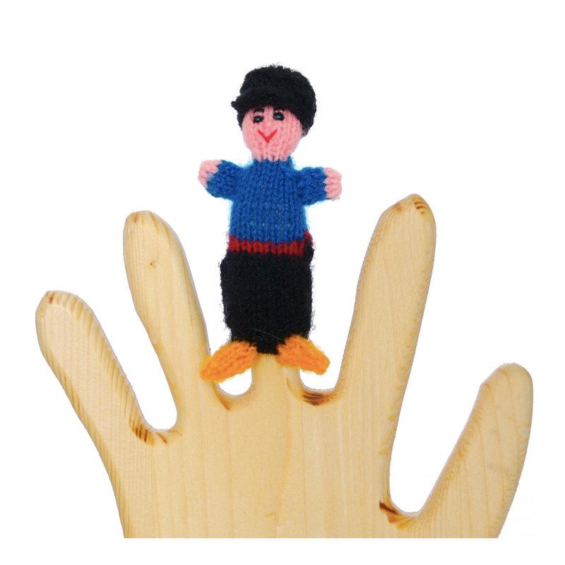 Finger puppet, farmer
