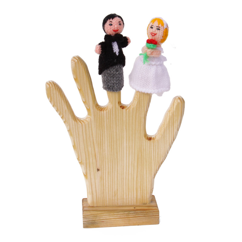Fingerpuppets, bride and groom