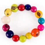 Bracelet of coloured nuts, small