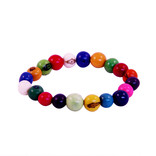 Bracelet of coloured nuts, medium