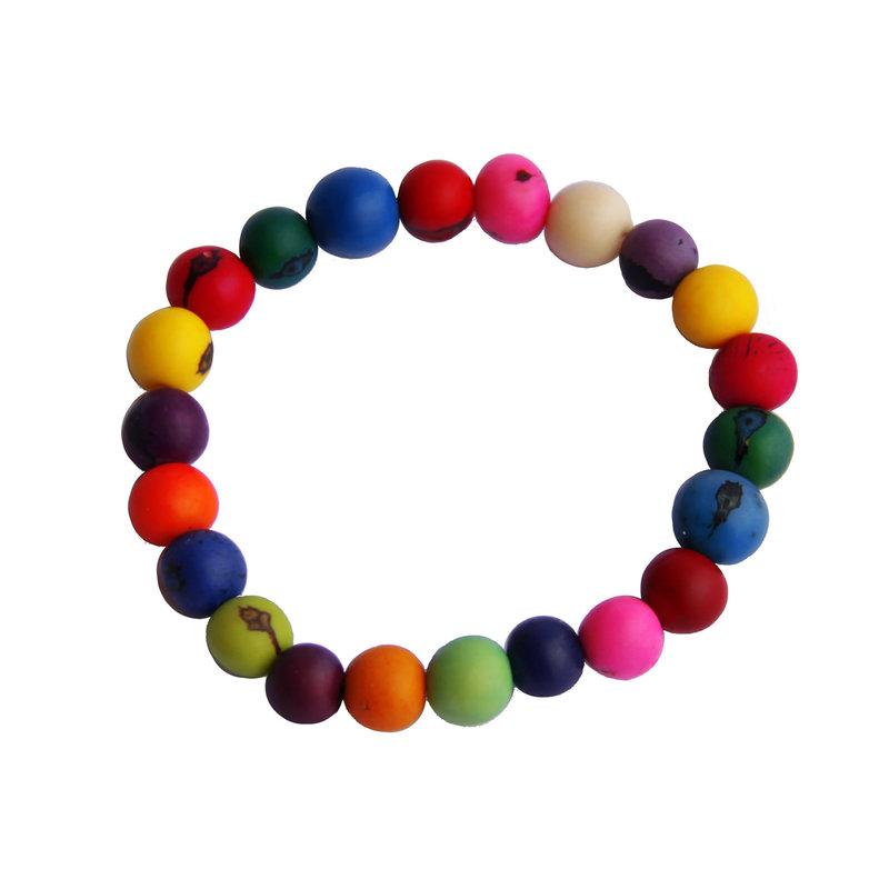 Armband van gekleurde noten, groot