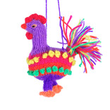 Hand knitted rooster