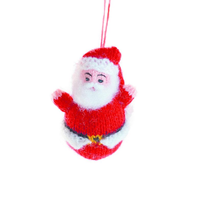 Hand knitted Santa