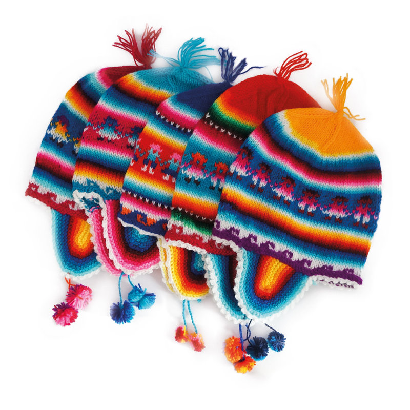 Typical children's hat, Peru