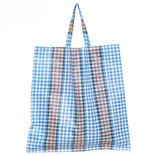 Synthetic bag of woven plastic, large