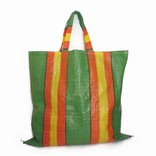 Synthetic bag of woven plastic, XL