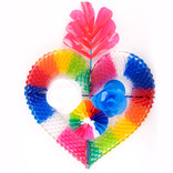 Decorative heart of plastic, large