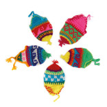 Egg-cosy colourful hat