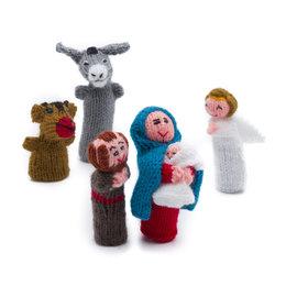 Kerstset van 5 vingerpoppen