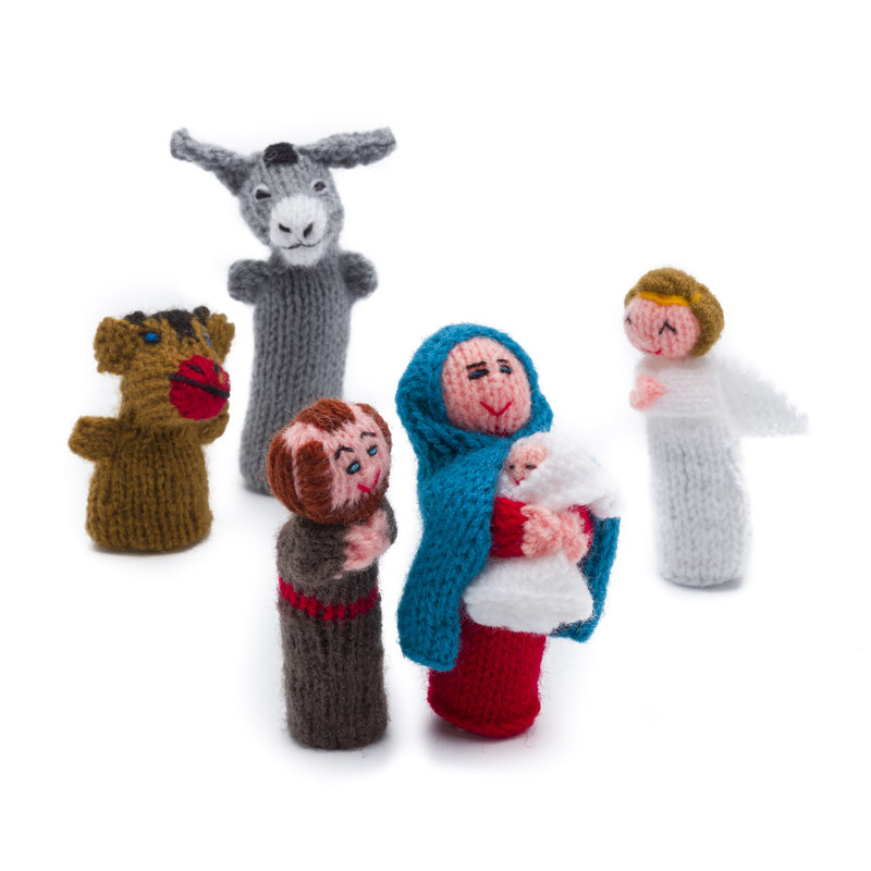 Finger puppets, Christmas set, 5 pieces