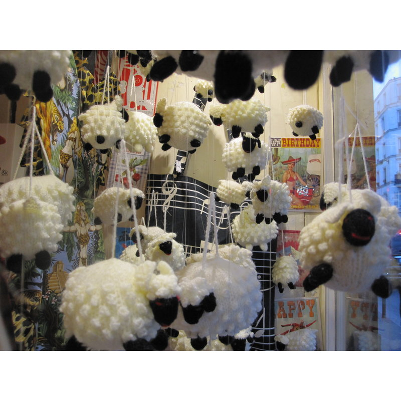 Hand knitted sheep, middle