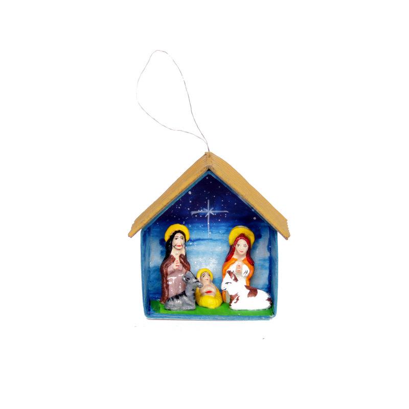 Nativity scene in barn