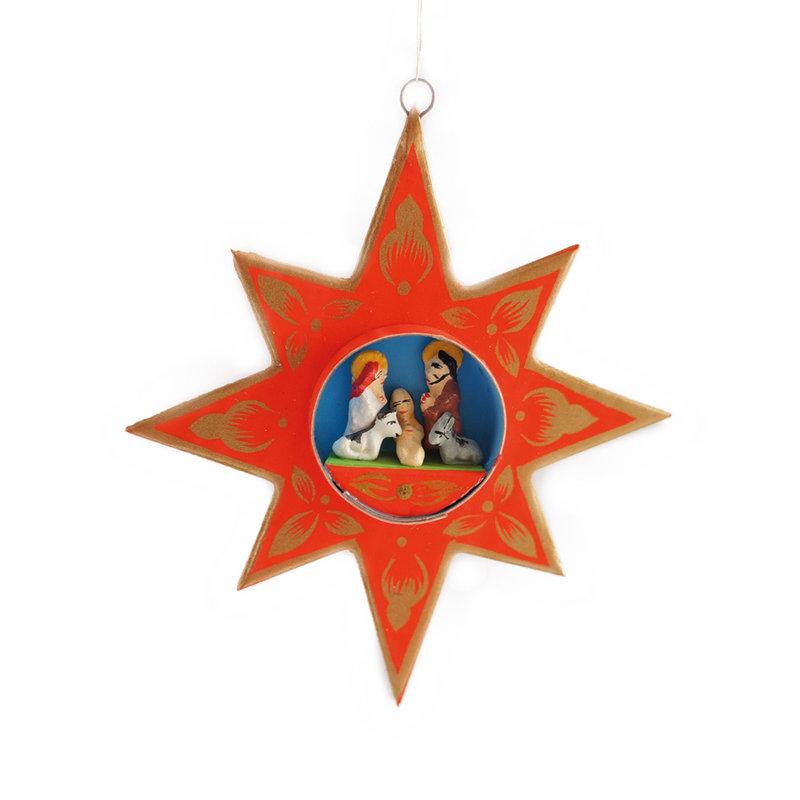 Nativity scene in star