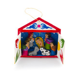 Mini nativity scene in matchbox, hanger