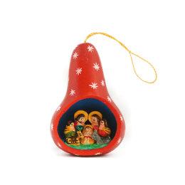 Kerststal-kalebas, rood