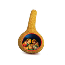 Nativity scene calabash, gold