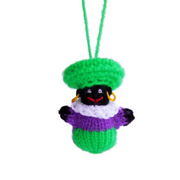 Hand knitted ball-puppet Black Peter, small