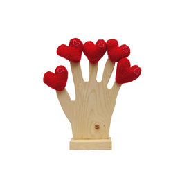 Fingerpuppet, heart