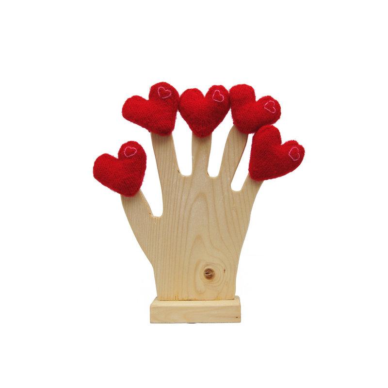 Fingerpuppet, heart