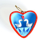 Heart with swans