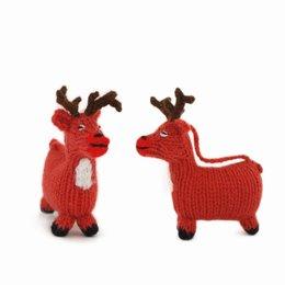 Hand knitted deer