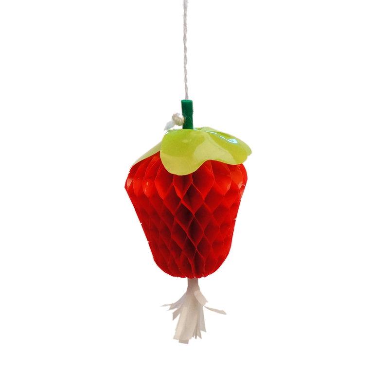 Aardbei-versiering, van plastic, mini