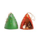Nativity scene in Christmas tree, 3D, ceramics