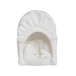 Nativity scene in soapstone arch