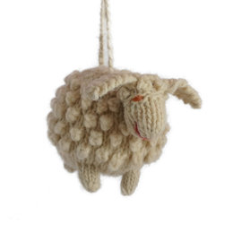 Hand knitted sheep,  wool