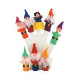 Set finger puppets Snow White + 7 Dwarfs