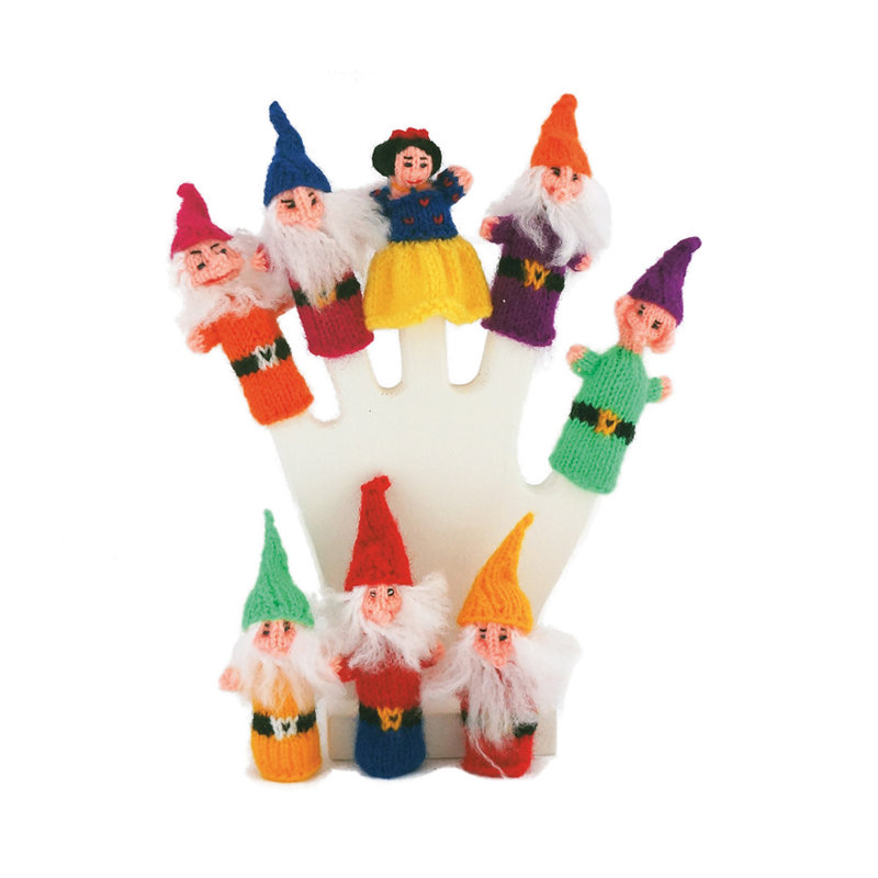 Set vingerpoppen Sneeuwwitje + 7 Dwergen