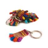 Key hanger little hand, 100% sheep's wool