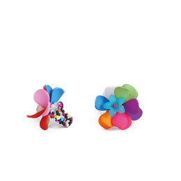 Flower ring, multi coloured, assorted