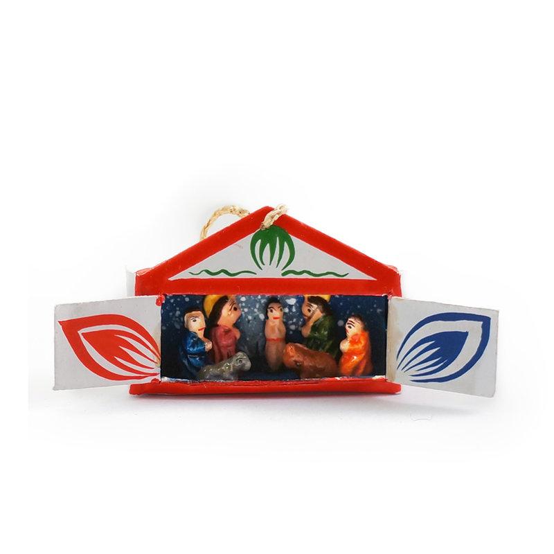 Kerststal in mini-luciferdoosje, hanger
