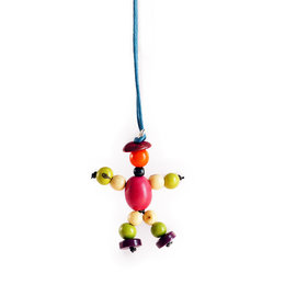 Necklace with tagua nut puppet