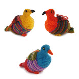 Gebreide vogel, gekleurd