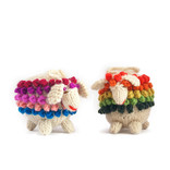 Hand knitted sheep, coloured 100% sheep's wool