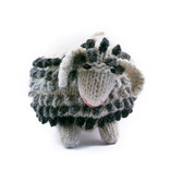 Hand knitted sheep, 100% sheep's wool, coloured, XL