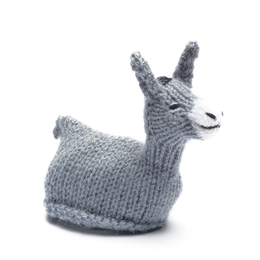 Egg-cosy donkey