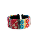 Armband Inca, extra breed Indiaanse textiel, 100% wol