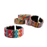 Bracelet Inca, extra wide Indian textile, 100% wool